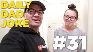 Daily Dad Joke #31 - Veronica's face says how bad this joke really is! DO NOT WATCH!!! thumbnail