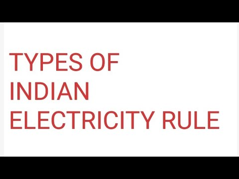 VREM LECTURE 03 INDIAN ELECTRICITY RULES (ACT 1956)