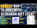 EASIEST WAY TO DEAL WITH ULTRAMAN RIFT EVENT to get 3400+ Cosmic breath to buy everything