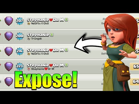 Dr.Mujtaba & Stephanie Exposed! - Supercell Need To Banned This Player!   Clash Of Clans!