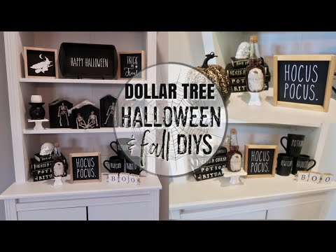 FARMHOUSE STYLE FALL DECOR DIYS | HALLOWEEN DIY | DOLLAR TREE FALL DECOR | FALL Y'ALL SERIES ep. 1