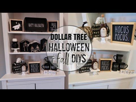 FARMHOUSE STYLE FALL DECOR DIYS | HALLOWEEN DIY | DOLLAR TREE FALL DECOR | FALL Y'ALL SERIES ep. 1