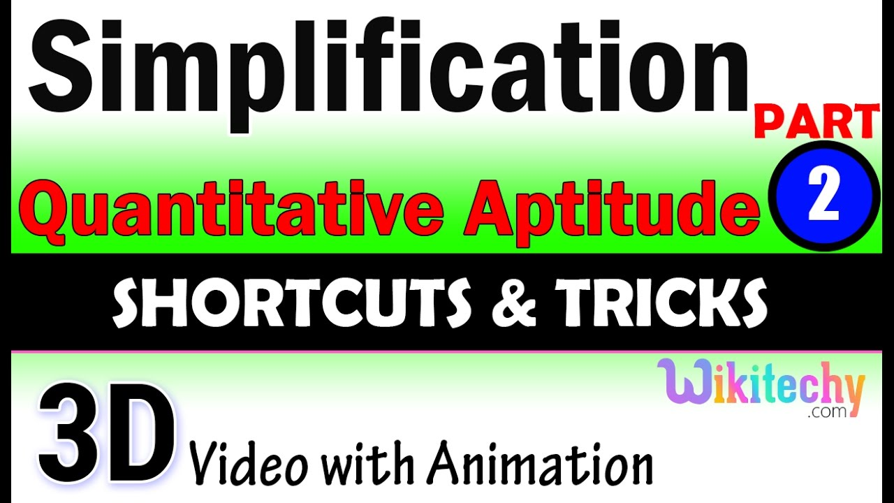 simplification 2 aptitude test questions and answers simplification 2 aptitude test questions and answers solutions online videos lectures tips