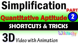 Simplification 2 aptitude test questions and answers with solutions online videos lectures tips