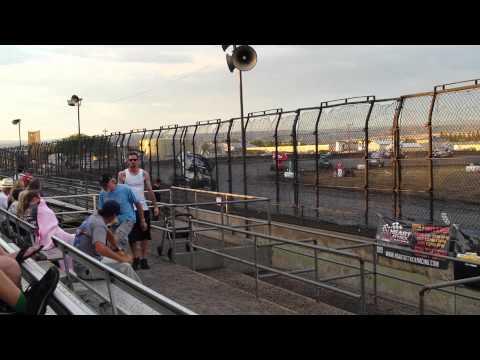 Kyle Hirst wreck Silver Dollar Speedway