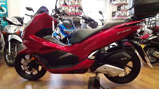 New 2018 Honda Pcx 125 Scooter Updated Design And The Engine Makes