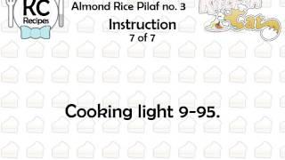 Almond Rice Pilaf No. 3 - Kitchen Cat