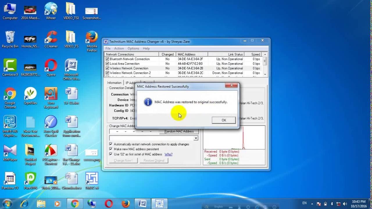 how to change your mac address windows 10