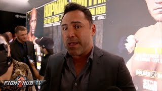 Oscar De La Hoya gives update on Canelo vs Golovkin fight & heat over flat fee offer