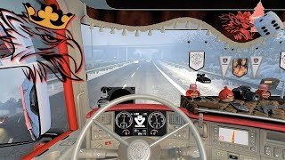 ETS2 (v1.30) - Scania RJL V8 Sound + Combo Skin | Very Nice Trip!