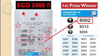Uncle Kumar Singapore Pools 4D FIRST PRIZE CHALLENGE, winning top prizes forecast prediction