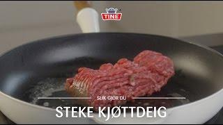 Hvordan steke kjøttdeig