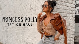 PRINCESS POLLY FALL CLOTHING TRY ON HAUL!