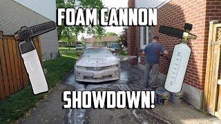 FOAM CANNON SHOWDOWN!!