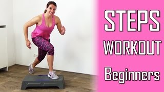 20 Minute Steps Workout Routine for Beginners - Stepper Exercises At Home