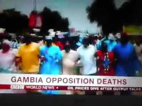 BCC world news video on the peaceful protest