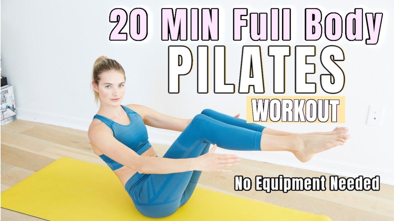 20 MIN Full Body Pilates Workout - No Equipment // Lean Body Routine // Sanne Vloet
