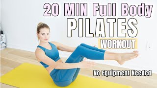20 MIN Full Body Pilates Workout - No Equipment // Lean Body Routine // Sanne Vloet