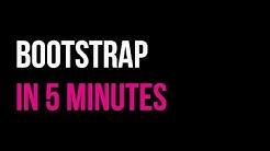 Bootstrap in 5 minutes | Responsive Website Tutorial | Code in 5