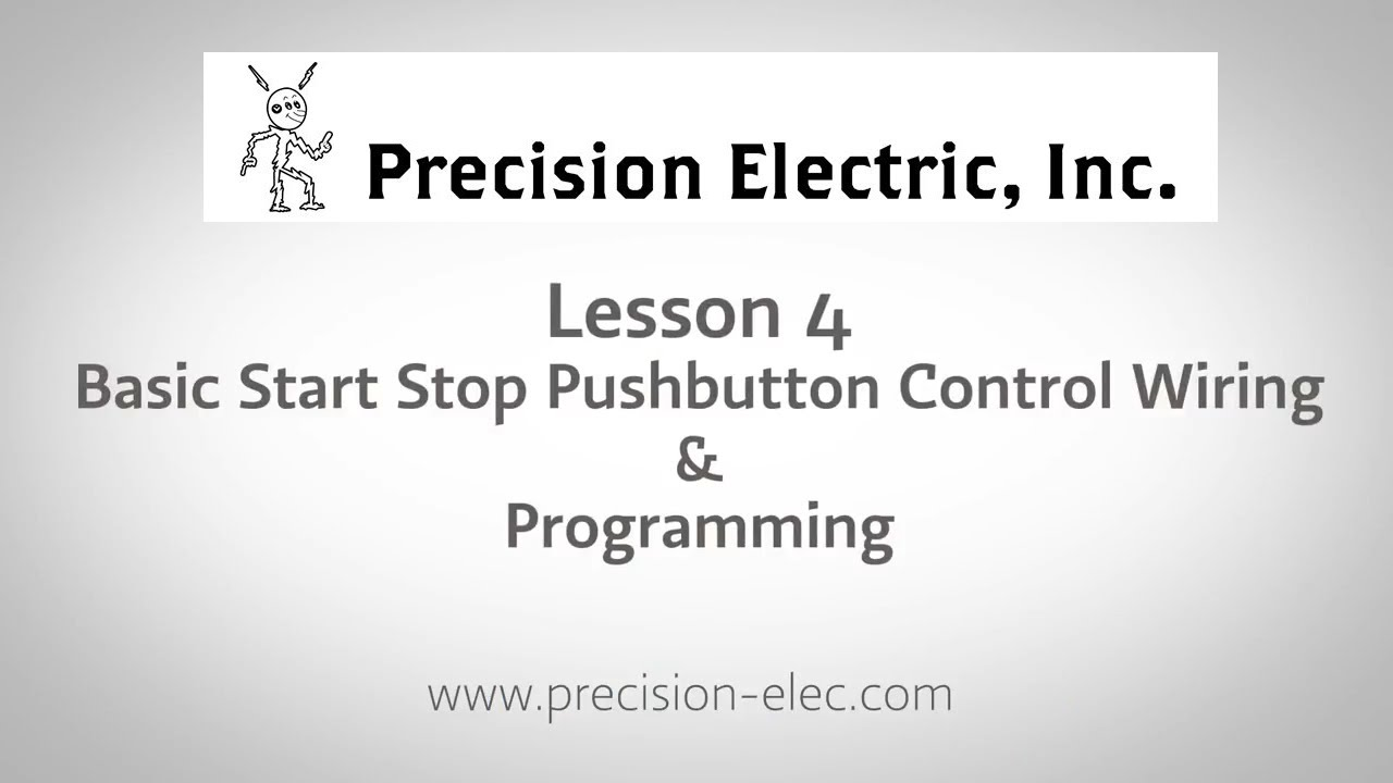 hight resolution of lenze smv training lesson 4 basic start stop pushbutton control wiring programming vfds