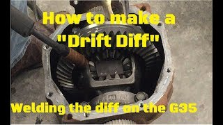 "How to make a ""DRIFT DIFF"" (How to weld a differential)"