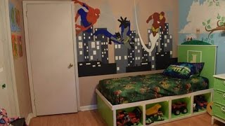 Kids Room Superhero/cinderella Makeover (time Lapse)