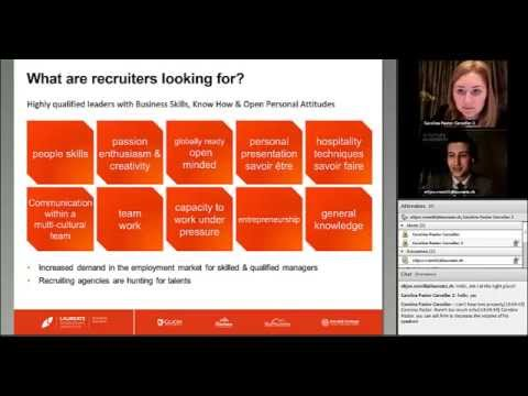 The secrets of a successful hospitality management career - Webinar