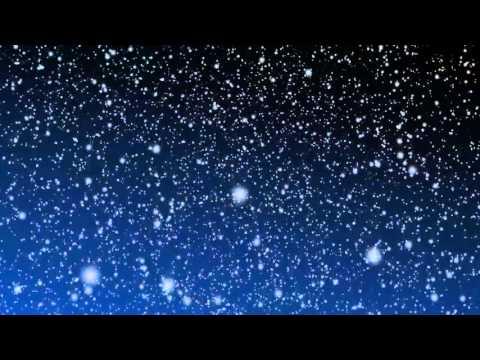 [10 Hours] Snow Falling Video & Audio BLUE B/G [HD] SlowTV