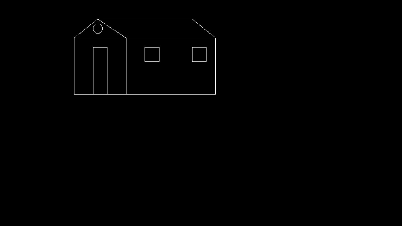 Bresenham Line Drawing Algorithm In C For All Slopes : House drawing in computer graphics youtube