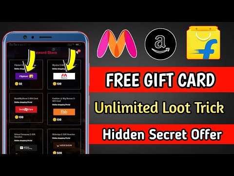 🔴 Amzon,Flipkart,Myntra Unlimited Gift Card Voucher Trick 2021 || Free Gift Card || Free Shopping ||