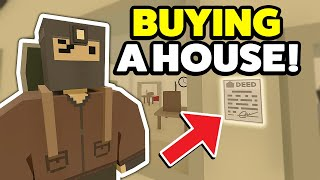 BUYING A NEW HOUSE! - Unturned Rags To Riches Roleplay #1