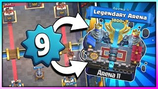 LEVEL 9 in LEGENDARY ARENA 11!! BEATING HIGHER LEVELS!! Clash Royale Best Level 9 Gameplay