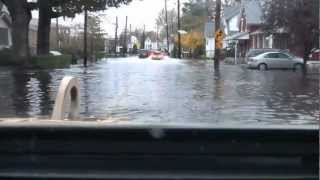 Hurricane Sandy Flooding Forces New Jersey National Guard to Rescue Residents of Moonachie, NJ