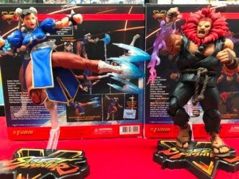 Street Fighter V Chun-Li and Akuma Storm Collectibles unboxing!
