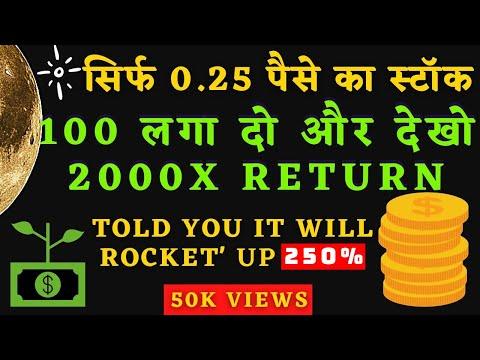 सिर्फ 0.25 पैसे का स्टॉक – BEST PENNY STOCKS TO BUY INDIA