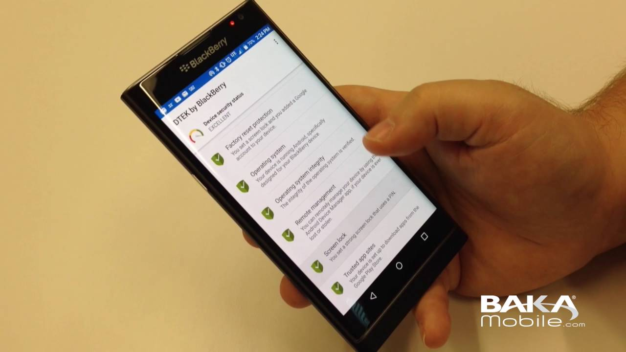 DTEK Application Walk-through - Available on the BlackBerry PRIV & DTEK50