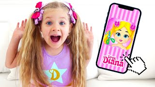 Diana and Love, Diana Dress Up - new game for kids