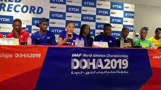 Allyson Felix and Team USA world record mixed-gender 4x400 press conference