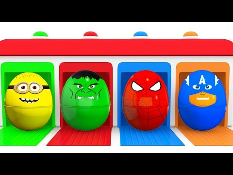 Thumbnail: Learn Kids Colors With Cars and Superhero Surprise Eggs - Color for Children Learning Video