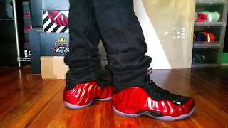 1d324645aa6 NIKE AIR FOAMPOSITE ONE METALLIC RED 2017 ON FOOT