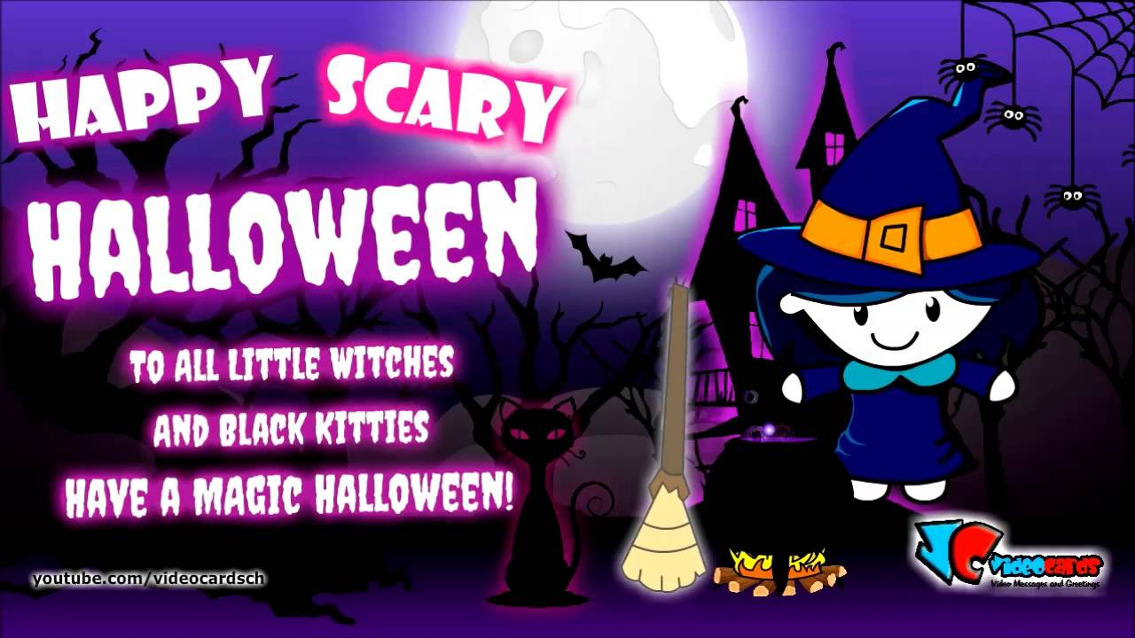 Happy Halloween Witch Card, Halloween Greeting Cards   YouTube
