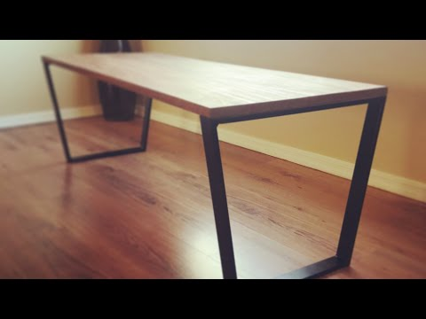 DIY Coffee Table // Welding Metal Table Legs