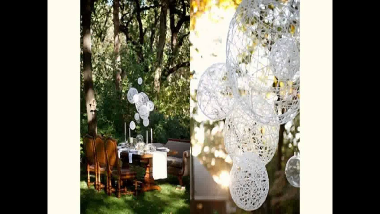 New outdoor wedding decoration ideas on a budget youtube for Decorations for weddings at home