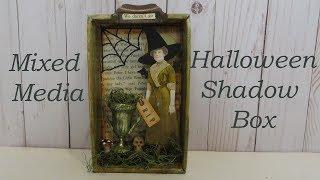 Mixed Media Halloween Shadow Box Tutorial