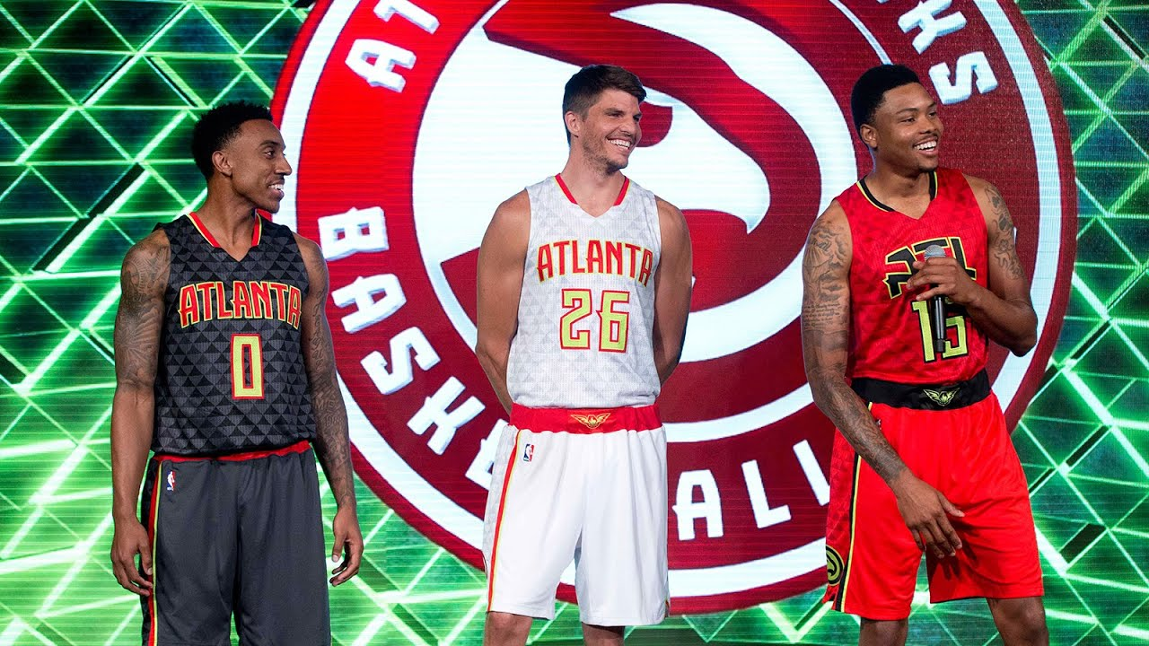 fb40bbb92 Atlanta Hawks unveil new uniforms - YouTube