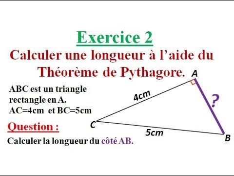 Calculer une longueur Théorème de Pythagore Exercice 2 ...