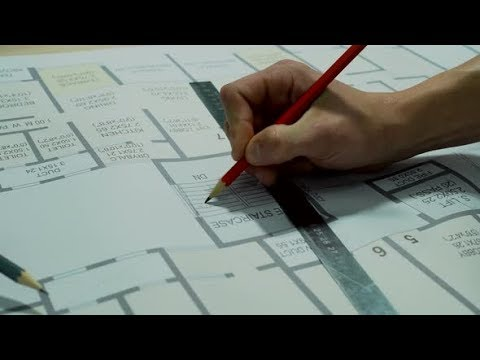 Engineers Planning the Building Construction – Architectural Drawing | Stock Footage - Videohive