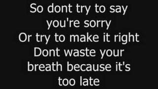 Your Love Is A Lie - Simple Plan (with lyrics)