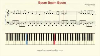 "How To Play Piano: Vengaboys ""Boom Boom Boom"" Piano Tutorial by Ramin Yousefi"