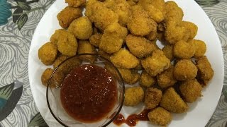 kfc style chicken popcorn recipe at home in hindi english subtitles